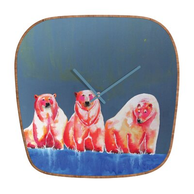 DENY Designs Clara Nilles Polarbear Blush Wall Clock