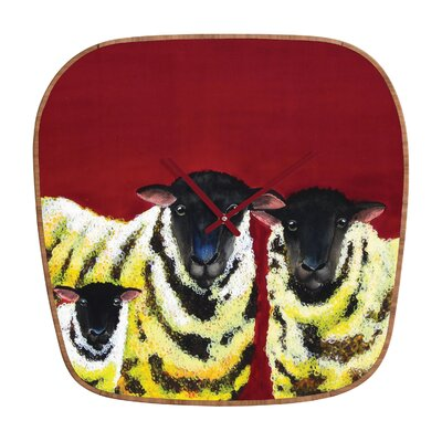 DENY Designs Clara Nilles Lemon Spongecake Sheep Clock