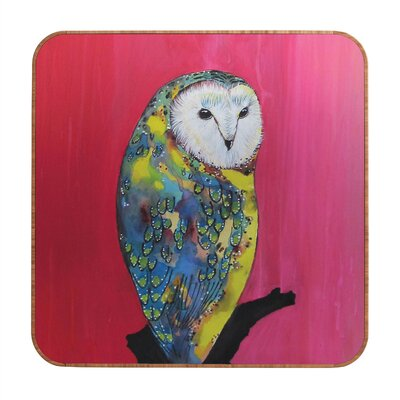 DENY Designs Owl On Lipstick by Clara Nilles Framed Graphic Art Plaque