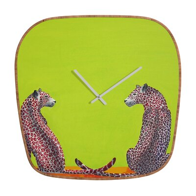 DENY Designs Clara Nilles Leopard Lovers Wall Clock