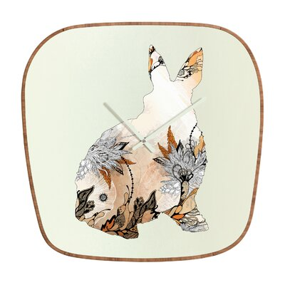 DENY Designs Iveta Abolina Little Rabbit Wall Clock