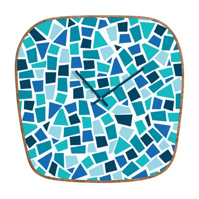 DENY Designs Khristian A Howell Baby Blue Wall Clock