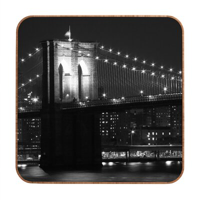 DENY Designs Brooklyn Bridge 125 by Leonidas Oxby Framed Photographic Print Plaque