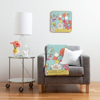 DENY Designs Rachael Taylor Fun Floral Polyester Fleece  Throw Blanket