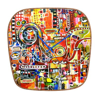DENY Designs Robin Faye Gates It Came from Detroit Wall Clock