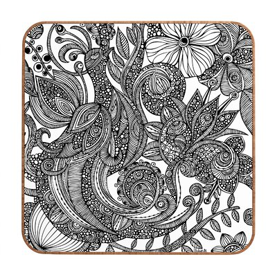 Valentina Ramos Bird in Flowers Black White Wall Art