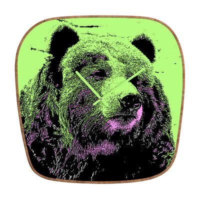 DENY Designs Romi Vega Bear Wall Clock