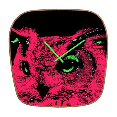DENY Designs Romi Vega Owl Wall Clock
