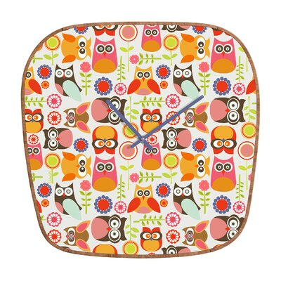 DENY Designs Valentina Ramos Cute Little Owls Wall Clock