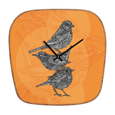 DENY Designs Valentina Ramos 3 Little Birds Wall Clock