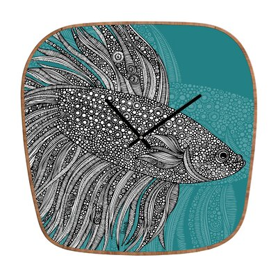 DENY Designs Valentina Ramos Beta Fish Wall Clock