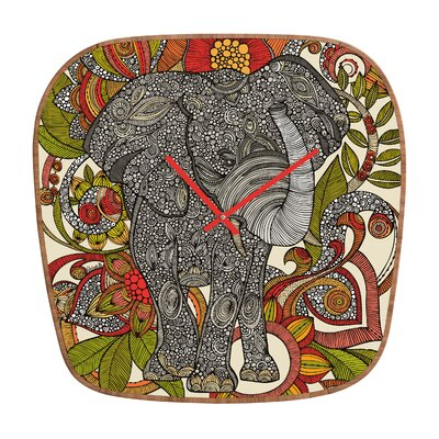 DENY Designs Valentina Ramos Bo the Elephant Wall Clock