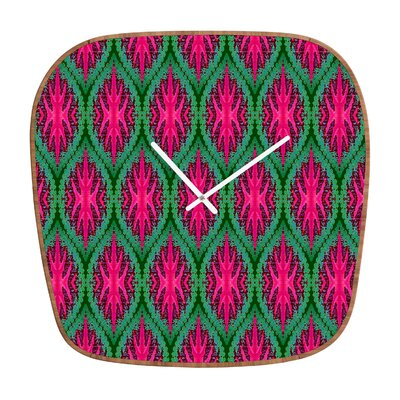 DENY Designs Wagner Campelo Ikat Leaves Clock