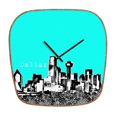 DENY Designs Bird Ave Dallas Clock