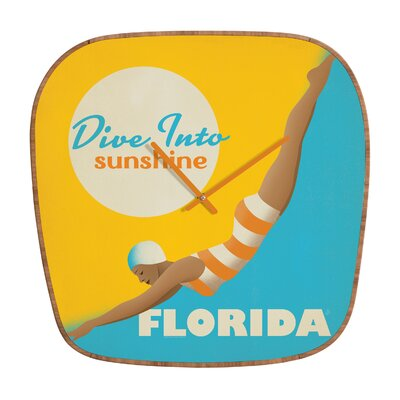 DENY Designs Anderson Design Group Dive Florida Wall Clock