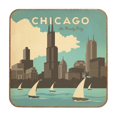 DENY Designs Chicago by Anderson Design Group Framed Vintage Advertisement Plaque