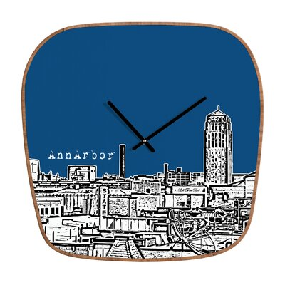 DENY Designs Bird Ave Ann Arbor Wall Clock