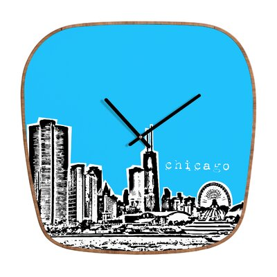 DENY Designs Bird Ave Chicago Wall Clock