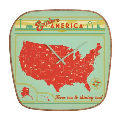 DENY Designs Anderson Design Group Explore America Wall Clock