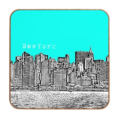 New York by Bird Ave. Framed Graphic Art Plaque