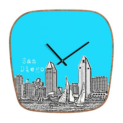 DENY Designs Bird Ave San Diego Clock