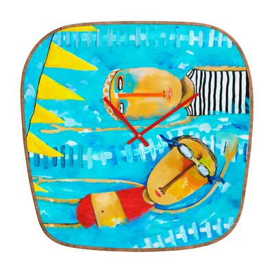 DENY Designs Robin Faye Gates Swimming Is Hard Wall Clock