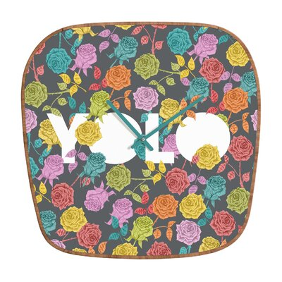 Bianca Green YOLO Wall Clock