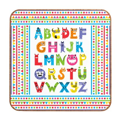 DENY Designs Andi Bird Alphabet Monsters Framed Art