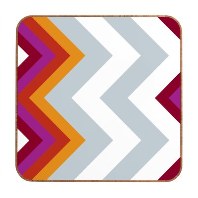 DENY Designs Modernity Solstice Warm Chevron by Karen Harris Framed Graphic Art Plaque