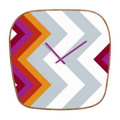 DENY Designs Karen Harris Modernity Solstice Warm Chevron Clock
