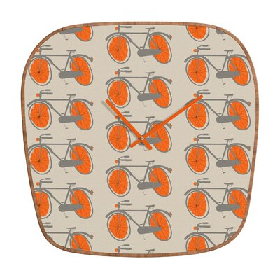 DENY Designs Mummysam Bicycles Wall Clock