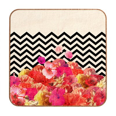DENY Designs Chevron Flora 2 by Bianca Green Framed Graphic Art Plaque