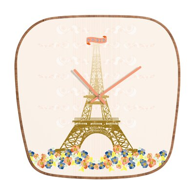 DENY Designs Jennifer Hill Paris Eiffel Tower Wall Clock