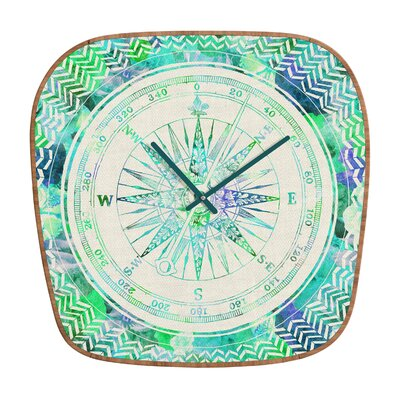 DENY Designs Bianca Follow Your Own Path Mint Clock