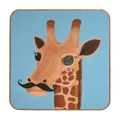 DENY Designs Mandy Hazell Gentleman Giraffe Wall Art