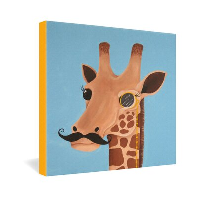 DENY Designs Mandy Hazell Gentleman Giraffe Gallery Wrapped Canvas