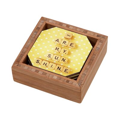 DENY Designs Happee Monkee You Are My Sunshine Coaster