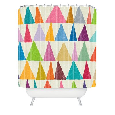 DENY Designs Nick Nelson Analogous Shapes in Bloom Woven Polyesterrr Shower Curtain