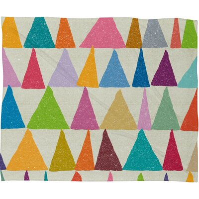 DENY Designs Nick Nelson Analogous Shapes in Bloom Polyesterrr Fleece Throw Blanket