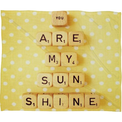 DENY Designs Happee Monkee You Are My Sunshine Polyesterrr Fleece Throw Blanket