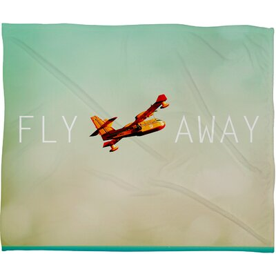 DENY Designs Happee Monkee Fly Away Fleece Polyesterrr Throw Blanket