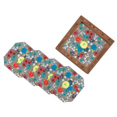 DENY Designs Vy La Bloomimg Love Coaster