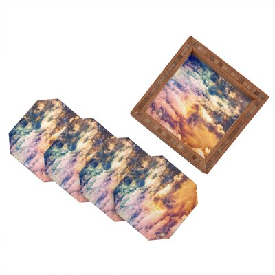 DENY Designs Shannon Clark Cosmic Coaster (Set of 4)