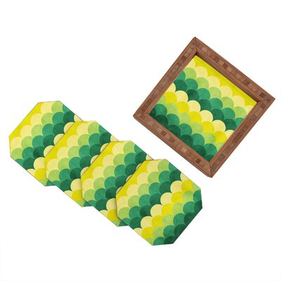 DENY Designs Arcturus Scales Coaster (Set of 4)