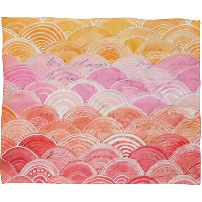Cori Dantini Warm Spectrum Rainbow Polyesterrr Fleece Throw Blanket