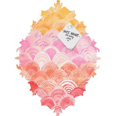 DENY Designs Cori Dantini Warm Spectrum Rainbow Baroque Bulletin Board