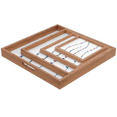 DENY Designs Belle 13 Happy Spring Square Tray