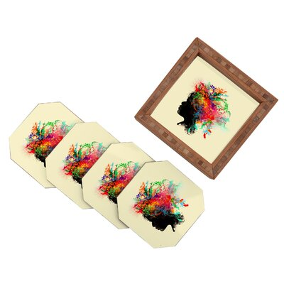 DENY Designs Budi Kwan Wildchild Coaster (Set of 4)