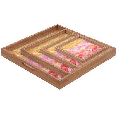 DENY Designs Cori Dantini Warm Spectrum Rainbow Square Tray