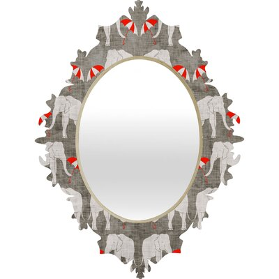 DENY Designs Holli Zollinger Elephant and Umbrella Baroque Mirror